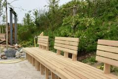 Nächstes Jahr können Sie hier Platz nehmen und den Garten genießen