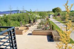 Blick auf unseren Lehrgarten vom Pavillon aus
