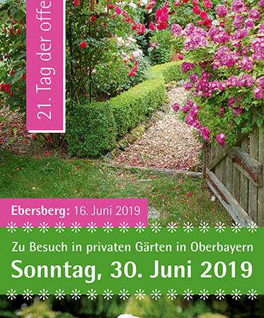 Flyer Tag der offenen Gartentür 2019